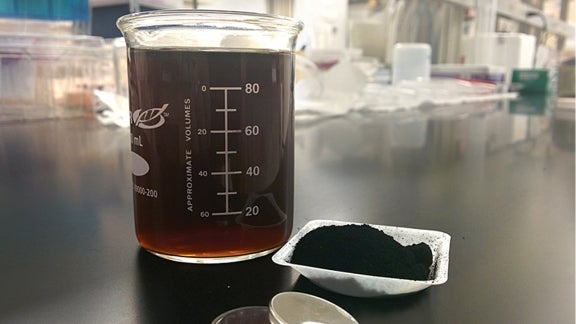 Lignosulfonate, a sulfonated carbon waste material