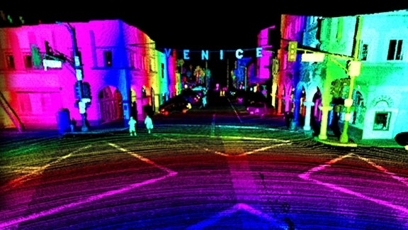 Venice Beach, as seen through Luminar's breakthrough LiDAR technology.