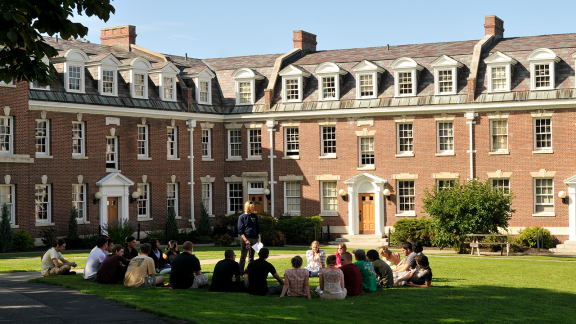 Group of Students at the Quad on RPI Campus