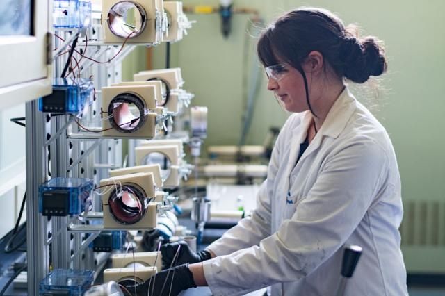 Young female scientist working in the RARE Center