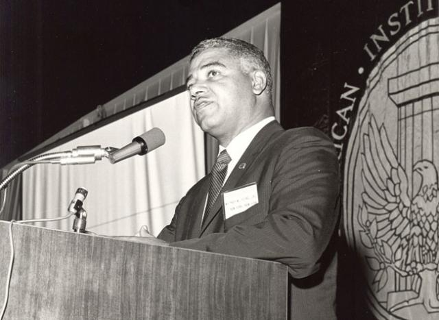 Whitney Young gives 1968 speech to the AIA.