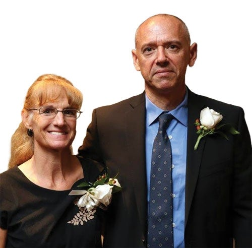 Diane Stoyer Updegrove '84 and her husband, Kevin Updegrove '83